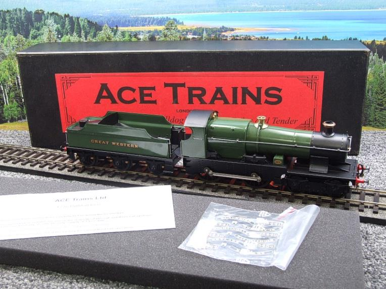 "Ace Trains O Gauge E16 Bulldog ""Great Western"" Bird Unlined Green Loco & Tender Electric 2/3 Rail image 20"