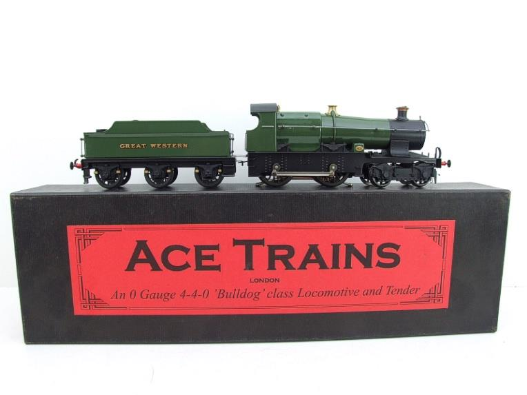 "Ace Trains O Gauge E16 Bulldog ""Great Western"" Bird Unlined Green Loco & Tender Electric 2/3 Rail image 22"