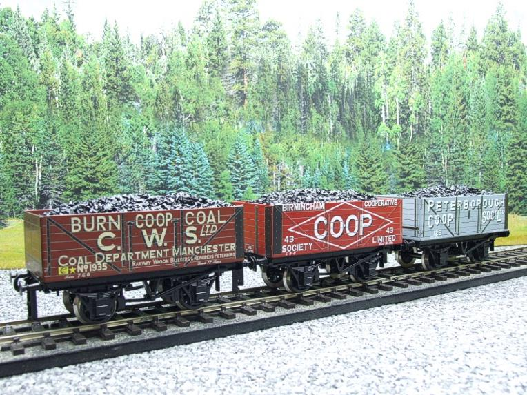 "Ace Trains O Gauge G/5 WS10 Private Owner ""Co-Op"" Coal Wagons x3 Set 10 Bxd image 11"