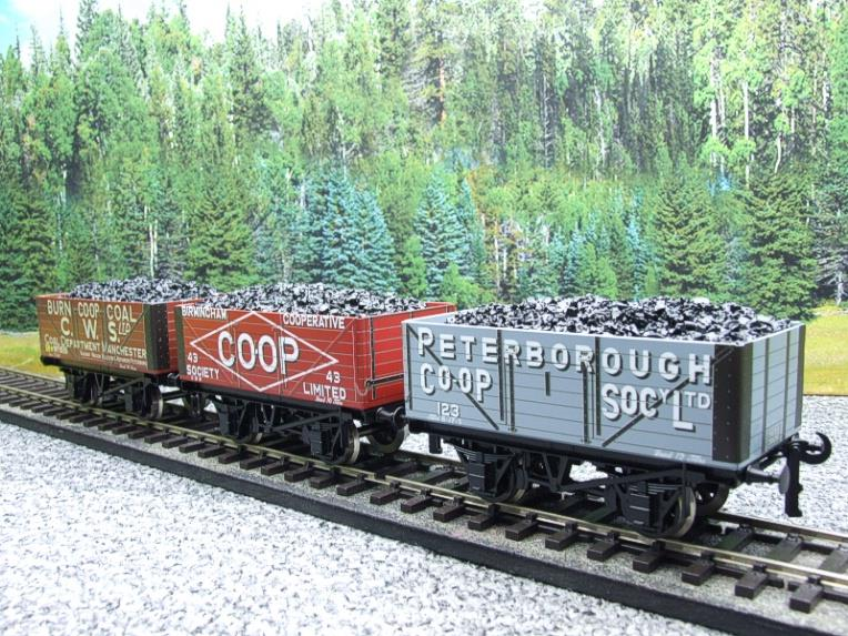 "Ace Trains O Gauge G/5 WS10 Private Owner ""Co-Op"" Coal Wagons x3 Set 10 Bxd image 18"