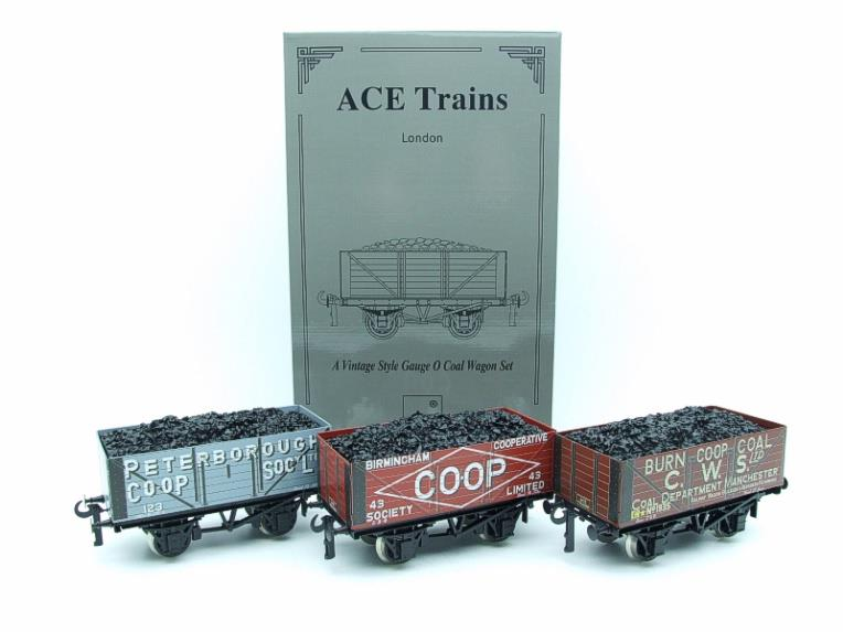 "Ace Trains O Gauge G/5 WS10 Private Owner ""Co-Op"" Coal Wagons x3 Set 10 Bxd image 21"