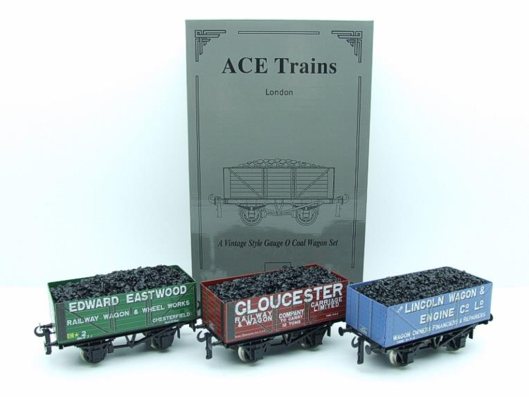 "Ace Trains O Gauge G/5 WS9 Private Owner ""Wagon Builders"" Coal Wagons x3 Set 9 Bxd image 21"