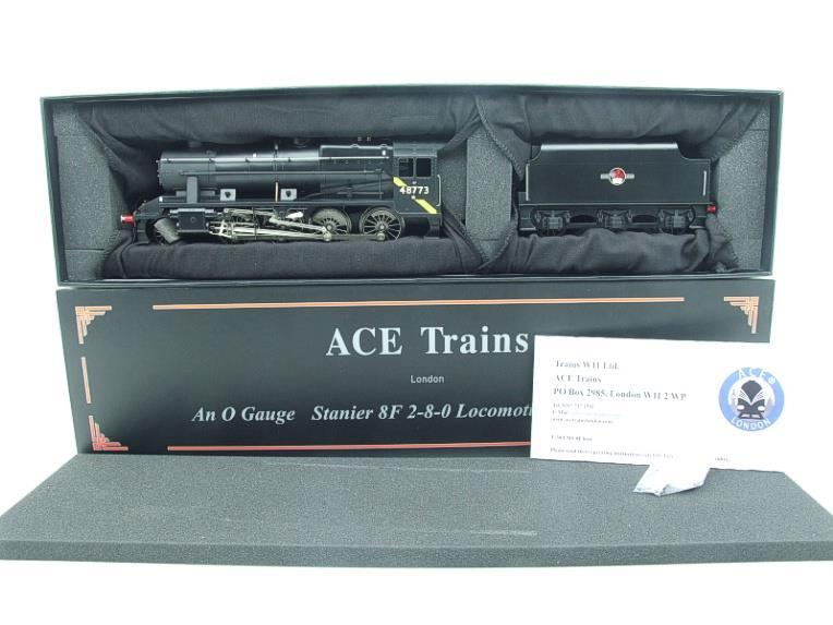 Ace Trains O Gauge E38H, Late Post 56 BR Satin Black Class 8F, 2-8-0 Locomotive and Tender R/N 48773 image 20