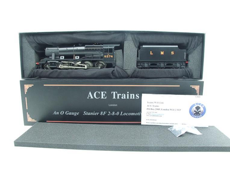 Ace Trains O Gauge E38B1, LMS Un-Lined Satin Black Class 8F, 2-8-0 Locomotive and Tender R/N 8274 image 20