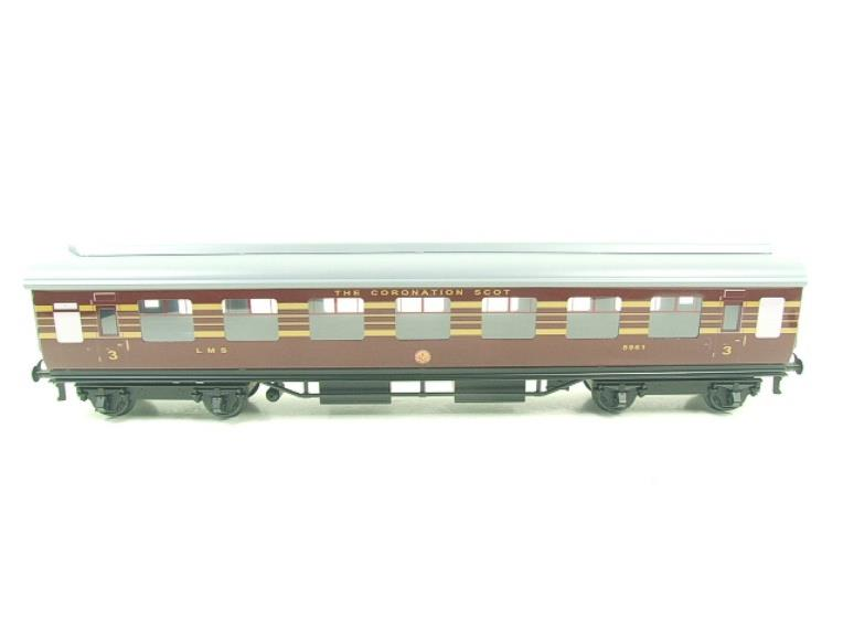 Ace Trains O Gauge C28B LMS Maroon Coronation Scot Coaches x3 Set B Bxd 2/3 Rail image 11