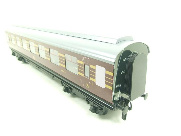 Ace Trains O Gauge C28B LMS Maroon Coronation Scot Coaches x3 Set B Bxd 2/3 Rail image 12