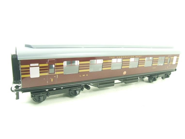 Ace Trains O Gauge C28B LMS Maroon Coronation Scot Coaches x3 Set B Bxd 2/3 Rail image 13