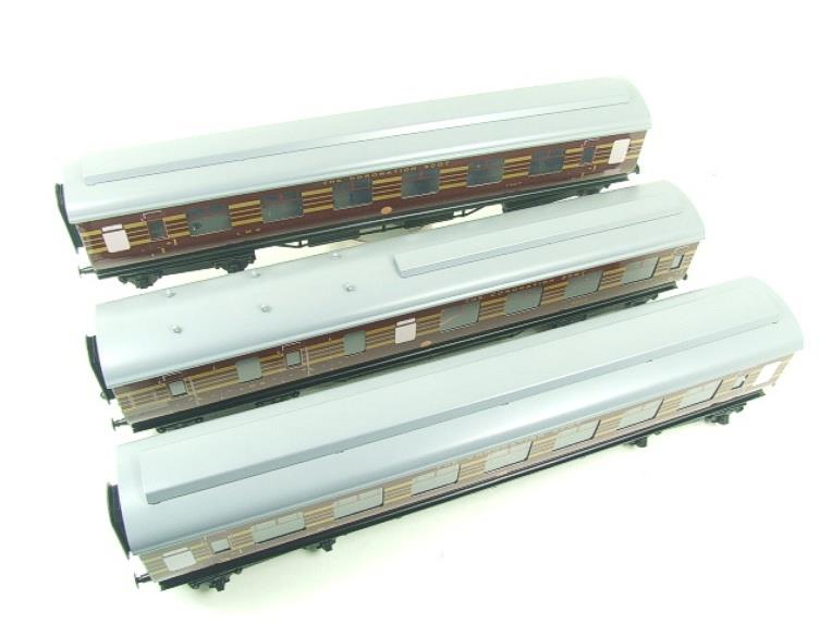 Ace Trains O Gauge C28B LMS Maroon Coronation Scot Coaches x3 Set B Bxd 2/3 Rail image 14