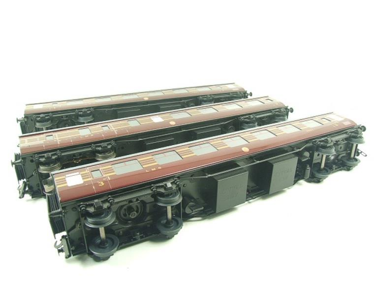 Ace Trains O Gauge C28B LMS Maroon Coronation Scot Coaches x3 Set B Bxd 2/3 Rail image 18