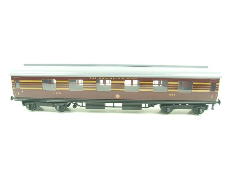Ace Trains O Gauge C28A LMS Maroon Coronation Scot Coaches x3 Set A Bxd 2/3 Rail image 11