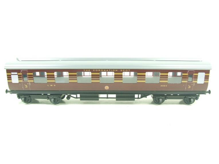 Ace Trains O Gauge C28A LMS Maroon Coronation Scot Coaches x3 Set A Bxd 2/3 Rail image 13