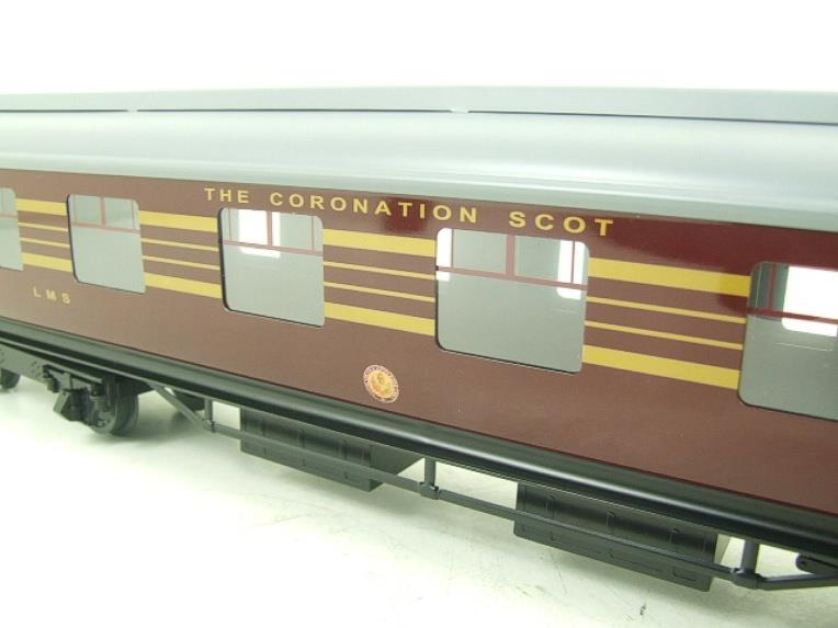 Ace Trains O Gauge C28A LMS Maroon Coronation Scot Coaches x3 Set A Bxd 2/3 Rail image 15