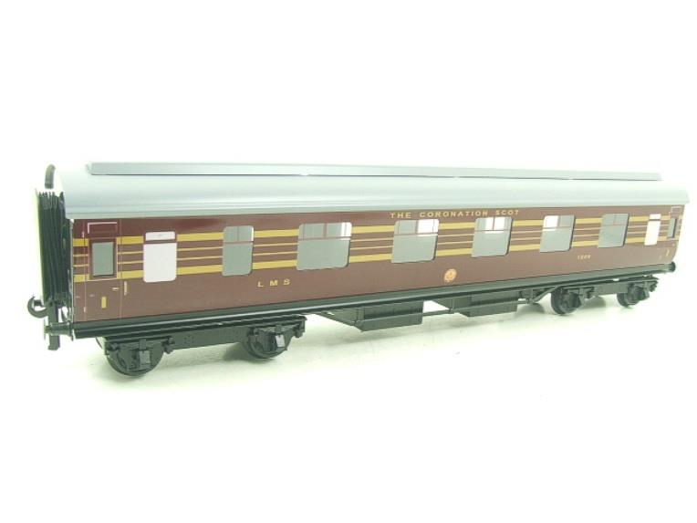 Ace Trains O Gauge C28A LMS Maroon Coronation Scot Coaches x3 Set A Bxd 2/3 Rail image 16