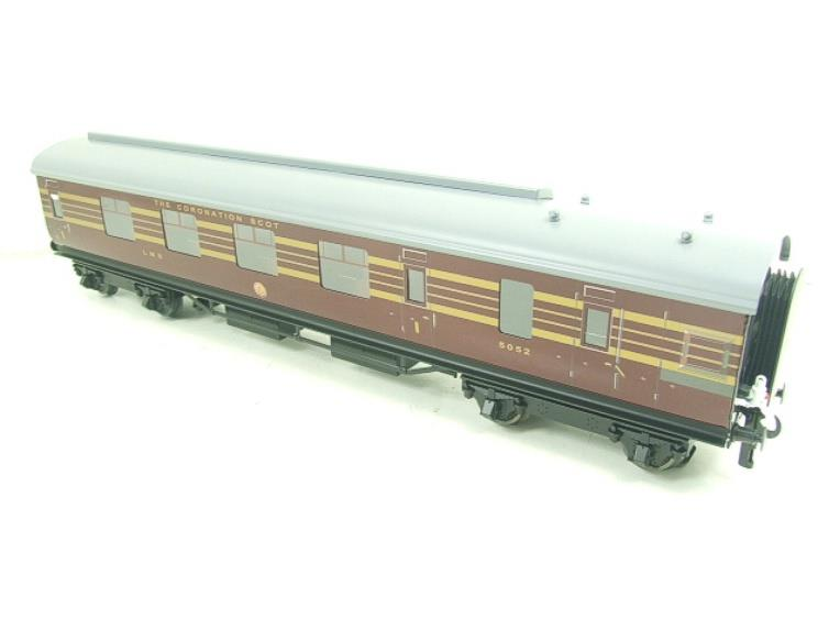 Ace Trains O Gauge C28A LMS Maroon Coronation Scot Coaches x3 Set A Bxd 2/3 Rail image 17