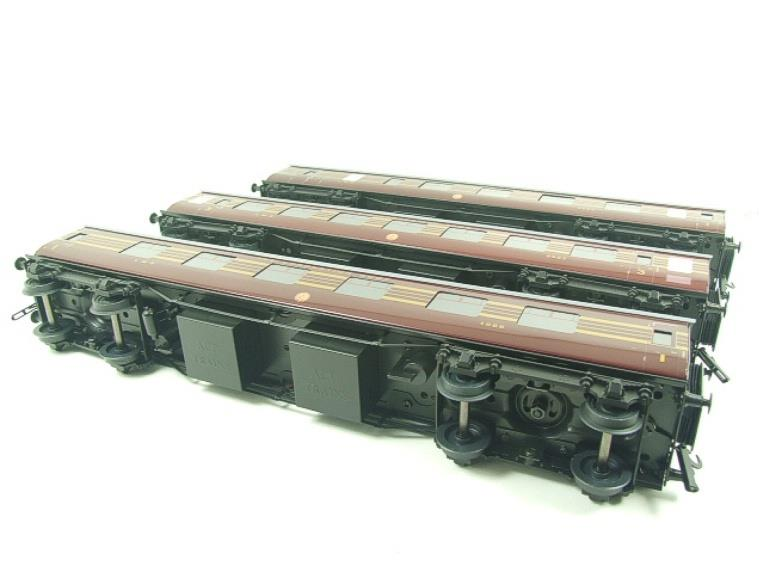 Ace Trains O Gauge C28A LMS Maroon Coronation Scot Coaches x3 Set A Bxd 2/3 Rail image 18