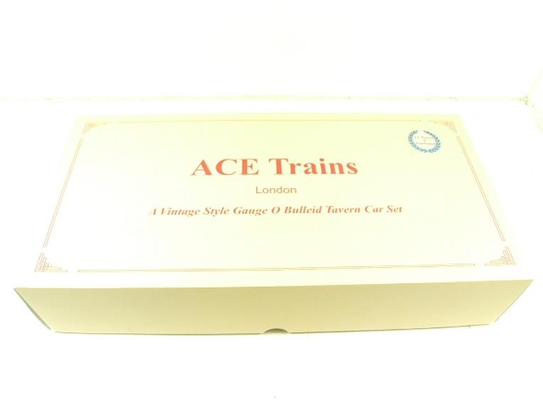 Ace Trains O Gauge C21C BR SR Bulleid Tavern Blood & Custard x2 Coaches Set Boxed image 15