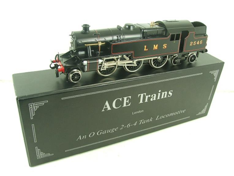 Ace Trains O Gauge E8 LMS Satin Black 2 Cyl Stanier Tank Loco R/N 2546 Electric 2/3 Rail Bxd image 18