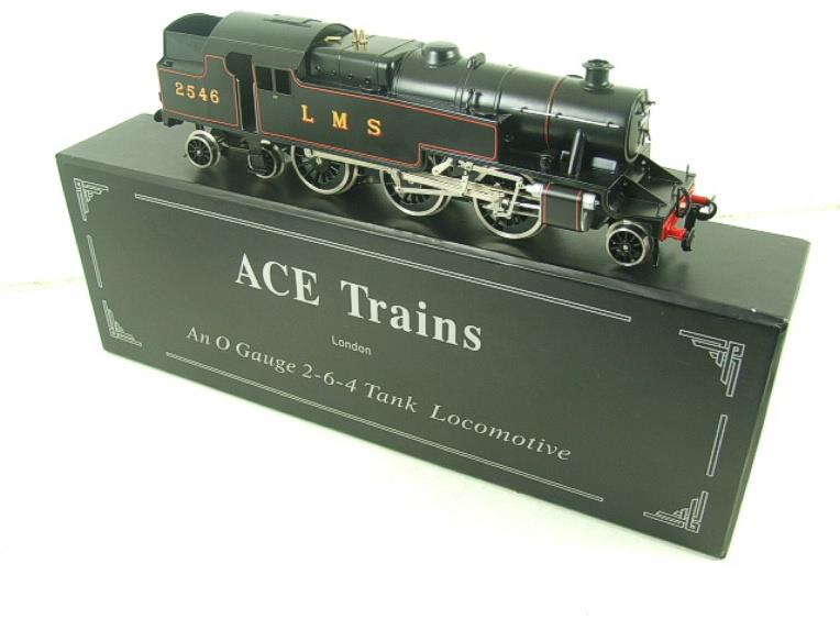 Ace Trains O Gauge E8 LMS Satin Black 2 Cyl Stanier Tank Loco R/N 2546 Electric 2/3 Rail Bxd image 19