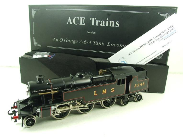 Ace Trains O Gauge E8 LMS Satin Black 2 Cyl Stanier Tank Loco R/N 2546 Electric 2/3 Rail Bxd image 20