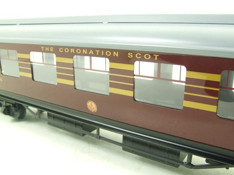 Ace Trains O Gauge C28-03 LMS Maroon Coronation Scot Open 3rd Coach Bxd 2/3 Rail image 11