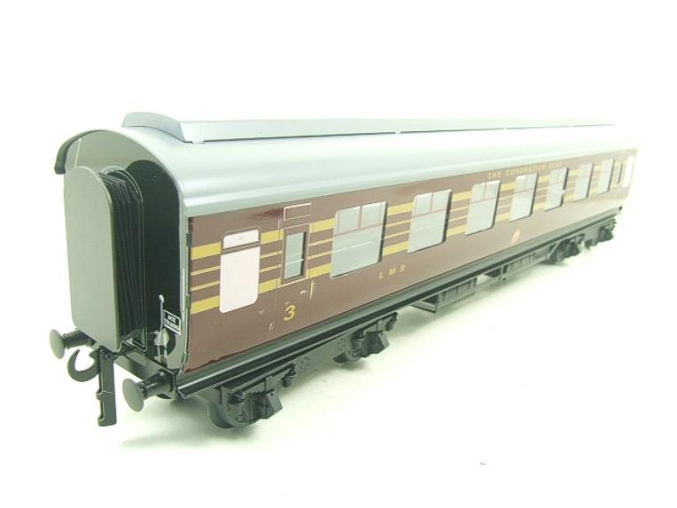 Ace Trains O Gauge C28-03 LMS Maroon Coronation Scot Open 3rd Coach Bxd 2/3 Rail image 12