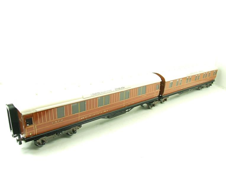 Ace Trains O Gauge C6 LNER Teak Style Articulated Sleepers Sleeping Coaches x2 Set Boxed image 11