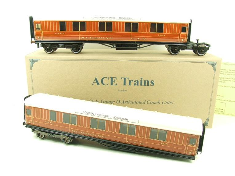 Ace Trains O Gauge C6 LNER Teak Style Articulated Sleepers Sleeping Coaches x2 Set Boxed image 19