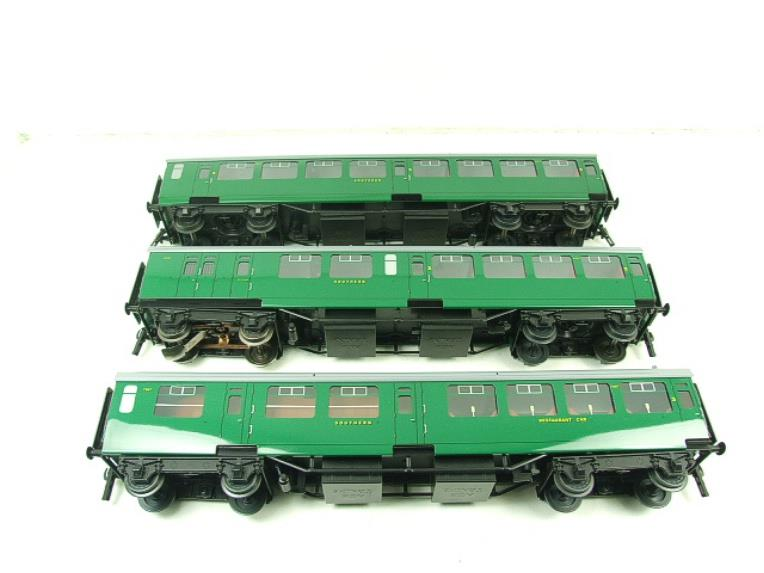 Ace Trains O Gauge C21A SR Green Bulleid Post War x3 Coaches Set A Boxed image 12