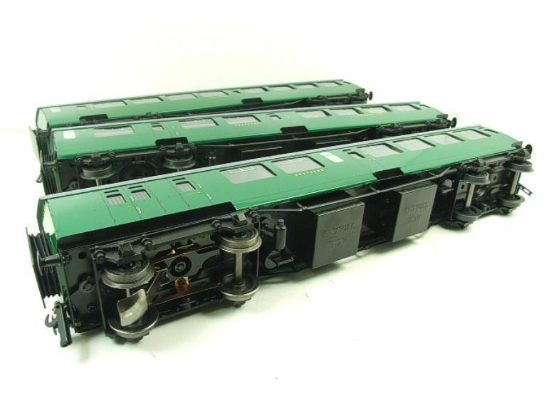 Ace Trains O Gauge C21A SR Green Bulleid Post War x3 Coaches Set A Boxed image 19