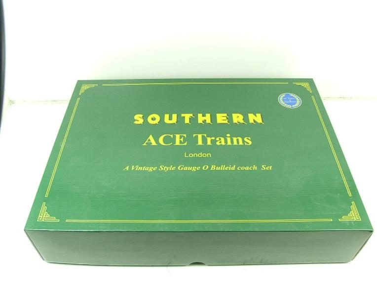 Ace Trains O Gauge C21A SR Green Bulleid Post War x3 Coaches Set A Boxed image 20