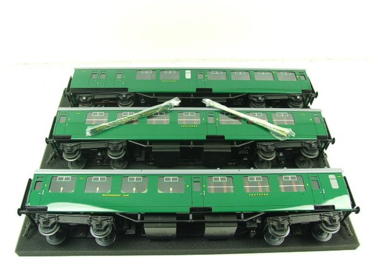 Ace Trains O Gauge C21B SR Green Bulleid Post War x3 Coaches Set B Boxed image 11