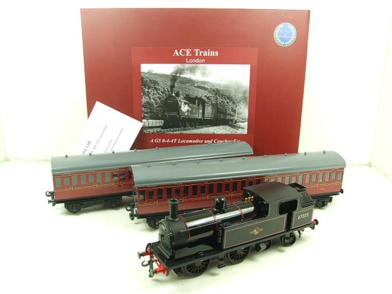 Ace Trains O Gauge E25/S-E1 BR Black G5 Tank Loco & Coaches Set Electric 2/3 Rail Boxed image 22