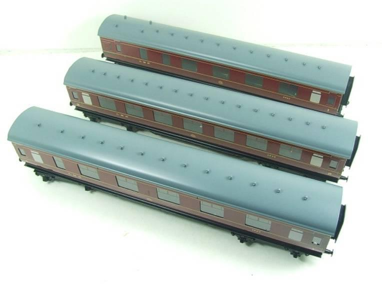 Ace Trains O Gauge C18A LMS Maroon Stainier Coaches x3 B/New Bxd 2/3 Rail Set A image 11