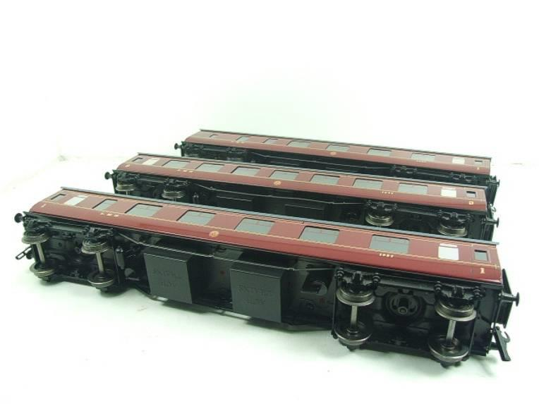 Ace Trains O Gauge C18A LMS Maroon Stainier Coaches x3 B/New Bxd 2/3 Rail Set A image 20