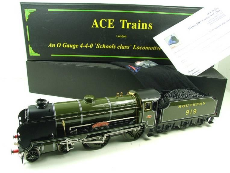 "Ace Trains O Gauge E10 SR Schools Class ""Harrow"" R/N 919 Electric 2/3 Rail Boxed image 22"