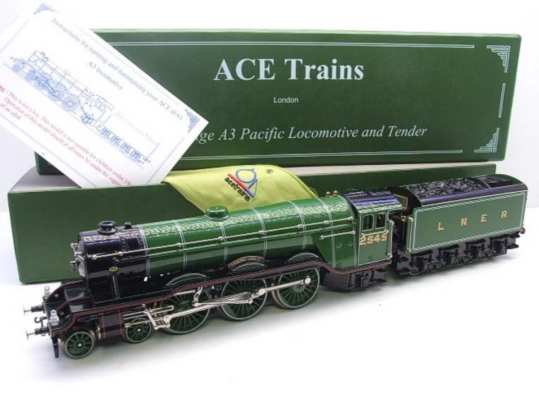 "Ace Trains O Gauge E/6 A3 Pacific Class LNER ""Diamond Jubilee"" R/N 2545 Electric 3 Rail Boxed image 16"