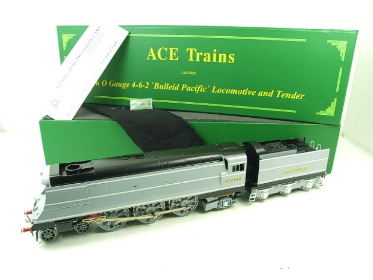 "Ace Trains O Gauge E9 Bulleid Pacific SR ""Fighter Command"" R/N 21C164 Elec Boxed image 22"