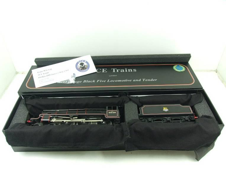 Ace Trains O Gauge E19-C1 BR Satin Black 5 Loco & Tender R/N 45126 Electric 2/3 Rail Bxd image 19