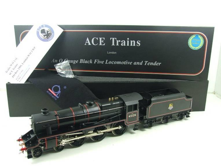 Ace Trains O Gauge E19-C1 BR Satin Black 5 Loco & Tender R/N 45126 Electric 2/3 Rail Bxd image 22