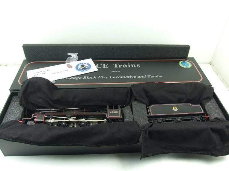 Ace Trains O Gauge E19-C2 Early BR Gloss Black 5 4-6-0 Loco & Tender R/N 45212 image 19