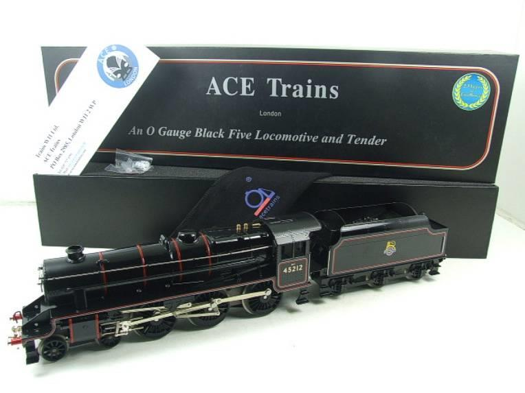 Ace Trains O Gauge E19-C2 Early BR Gloss Black 5 4-6-0 Loco & Tender R/N 45212 image 22