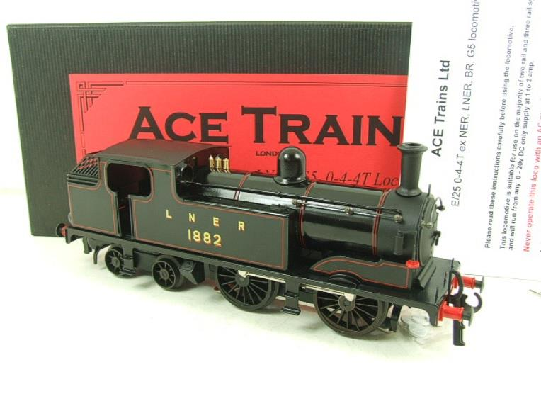 Ace Trains O Gauge E25B1 LNER Black G5 Tank Loco R/N 1882 Electric 2/3 Rail Boxed image 19