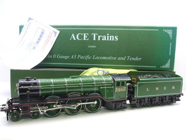 "Ace Trains O Gauge LNER Green A3 Pacific ""Windsor Lad"" RN 2500 Electric 3 Rail Bxd image 22"