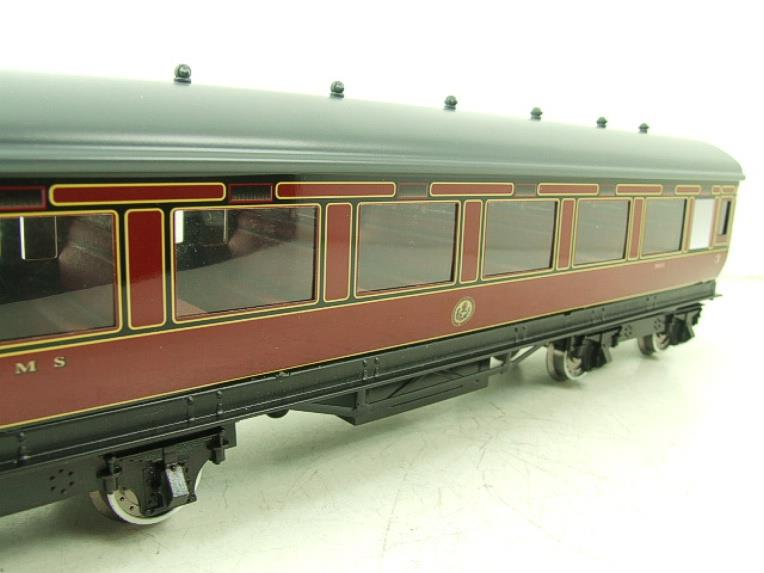 Darstaed O Gauge LMS All 3rd Side Corridor Coach R/N 3033 Lit Interior image 11