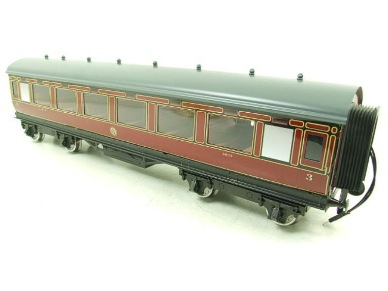 Darstaed O Gauge LMS All 3rd Side Corridor Coach R/N 3033 Lit Interior image 12