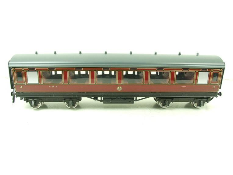 Darstaed O Gauge LMS All 3rd Side Corridor Coach R/N 3033 Lit Interior image 13