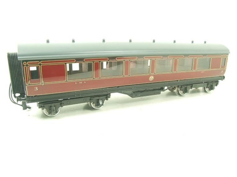 Darstaed O Gauge LMS All 3rd Side Corridor Coach R/N 3033 Lit Interior image 14