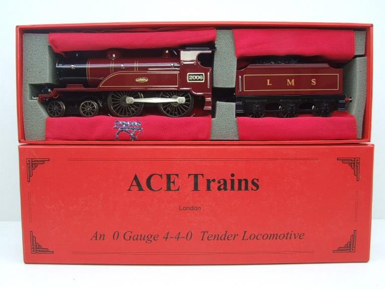 "Ace Trains O Gauge E3 ""LMS Maroon"" 4-4-0 Loco & Tender R/N 2006 Electric 3 Rail Boxed image 19"