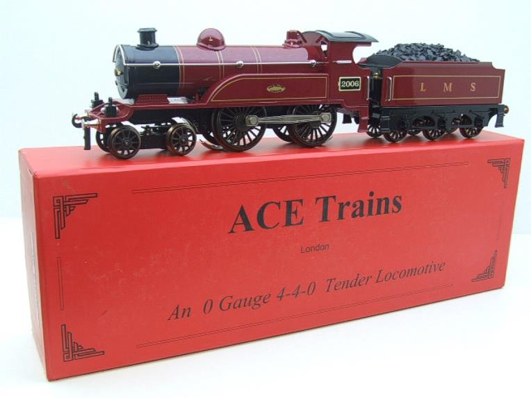 "Ace Trains O Gauge E3 ""LMS Maroon"" 4-4-0 Loco & Tender R/N 2006 Electric 3 Rail Boxed image 22"