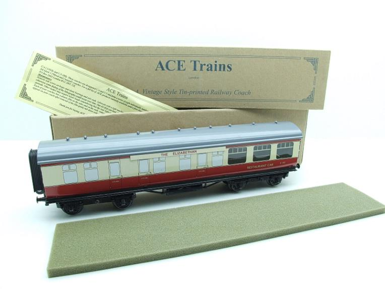 "Ace Trains O Gauge C5 BR ""The Elizabethan"" Restaurant Buffet Coach R/N E302 Boxed image 14"